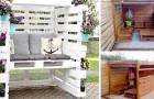 8 idee pratiche e geniali per realizzare uno splendido gazebo da giardino con i pallet