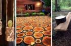 15 splendide soluzioni fai-da-te per arredare casa e giardino con i tronchi di legno grezzi