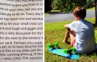 Os vizinhos pedem que uma mãe não deixe seu filho brincar no quintal:
