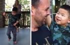 Questo bimbo con paralisi cerebrale muove i suoi primi passi sulla veranda di casa, per la gioia della sua famiglia