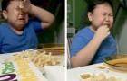 Een autistisch kind huilt van vreugde wanneer zijn moeder na maanden quarantaine zijn favoriete eten brengt