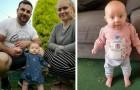 A filhinha de apenas 9 semanas consegue ficar em pé sozinha: