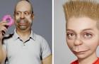 Ein Künstler stellt die Charaktere der Simpsons dank 3D-Modellierung nach: sie scheinen aus dem wirklichen Leben zu stammen