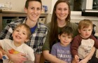 Female couple adopt three orphaned siblings so they can all grow up together under one roof
