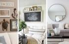 11 façons créatives et fascinantes de décorer le mur derrière le canapé