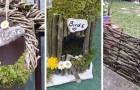 3 progetti semplici ma di grande effetto per decorare il giardino usando i rami secchi