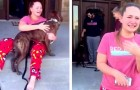 A girl cries for joy when her parents adopt her favorite puppy from the shelter where she is a volunteer