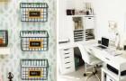 11 soluzioni ingegnose per organizzare l'ufficio e la scrivania con stile, sfruttando tutti gli spazi