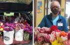 Il festival dei tulipani viene cancellato per il covid: l'organizzazione dona centinaia di fiori a una casa di riposo