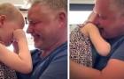 Uma menina de 4 anos que luta contra o câncer consegue abraçar o pai após 7 semanas de distanciamento
