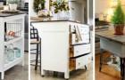 9 progetti fai-da-te perfetti per trasformare i vecchi mobili in originalissime isole per la cucina