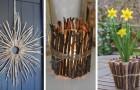 18 lavoretti irresistibili realizzati con bastoncini e ramoscelli per decorare la casa e il giardino