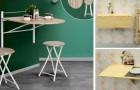 15 spunti per arredare la cucina con i tavolini pieghevoli e risparmiare spazio senza rinunciare alla comodità