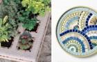 6 proposte irresistibili per realizzare magnifiche decorazioni a mosaico riciclando oggetti di uso comune