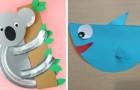 10 facili lavoretti adatti ai bambini per fabbricare simpaticissimi animaletti di carta