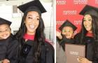 En ensamstående mamma tar examen från Harvard med sin dotter i famnen och står över både förolämpningar och fördomar