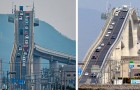 Eshima Ohashi, le pont pour voitures si raide qu'il ressemble aux montagnes russes d'un parc d'attractions