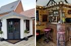 Een stel interieurontwerpers bouwt in slechts drie weken tijd een pub in een privétuin