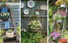 12 proposte incantevoli per creare decorazioni con oggetti riciclati e dare al giardino un tocco vintage
