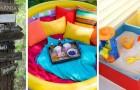 11 idee strepitose per creare giochi all'aperto per i bambini e trasformare il giardino in un parco giochi