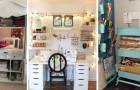 12 spunti da cui trarre ispirazione per allestire una pratica postazione per il cucito in casa