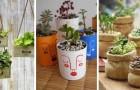 11 trovate originali per decorare vecchi oggetti e trasformarli in fantastici vasi e fioriere