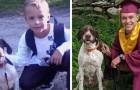 Ricrea la stessa foto con il suo cane a distanza di anni: insieme hanno raggiunto i traguardi più importanti