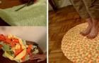 Il metodo passo dopo passo per riciclare vecchi asciugamani e trasformarli in un pratico tappetino da bagno