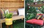 10 ottimi progetti di fai da te per arredare il giardino riciclando pallet e legno di recupero