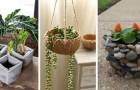 10 tecniche fai-da-te per modellare a mano fantastiche fioriere usando cemento, sassi e non solo