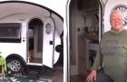 Uma mulher aposentada comprou um pequeno trailer e viaja pelos EUA: é pequeno, mas tem todo o conforto