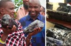 En gruvarbetare hittar två mycket ovanliga ädelstenar, blir miljonär och spenderar pengarna på att öppna en skola