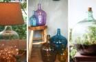 12 proposte una più bella dell'altra per arredare con gusto riciclando damigiane di vetro