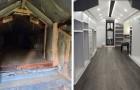 Un uomo trasforma una vecchia soffitta in un'enorme cabina armadio per la moglie