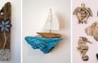 10 decorazioni semplici ma incantevoli da realizzare riciclando il legno di mare o il legname di recupero