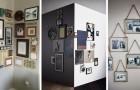 10 proposte originali per allestire una galleria di foto in casa e metterle in mostra anche con poco spazio