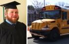 Guida lo scuolabus per anni, ma poi si iscrive all'università motivato dai ragazzi: