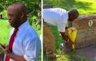 A disabled boy visits his mom's grave to tell her that he graduated: