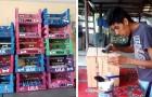 Un ragazzo disabile impara a lavorare il legno e costruisce comode cucce per cani e gatti