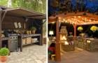 9 splendide idee per realizzare cucine all'aperto e arricchire i giardini con spazi utili e confortevoli