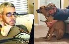 12 photos d'hommes qui ne voulaient pas d'un animal à la maison mais qui ont ensuite sorti leur côté le plus câlin