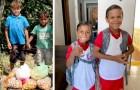 Due fratellini vendevano frutta e verdura sulla strada per vivere: ora, vanno a scuola grazie ad una raccolta di soldi