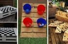 9 divertenti giochi fai-da-te da costruire in giardino riciclando i pallet