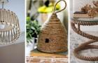 10 idee creative e originali per decorare la vostra casa utilizzando la corda