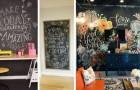 10 trovate originali per creare una parete effetto lavagna e arredare la casa con creatività