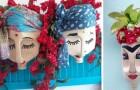 La tecnica facilissima per trasformare i flaconi di plastica in deliziose fioriere che ricordano volti di donne