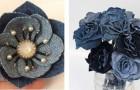 6 projets étonnants pour recycler de vieux jeans et les transformer en décorations en forme de fleurs