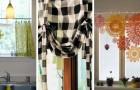 11 sympathiques idées pour créer de fantastiques rideaux de cuisine avec des chutes de tissu, des serviettes et des torchons