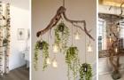 9 straordinarie decorazioni e complementi d'arredo da realizzare con rami di legno grezzo