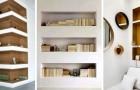 11 propositions plus belles les unes que les autres pour meubler votre maison avec des étagères et des tablettes en placo